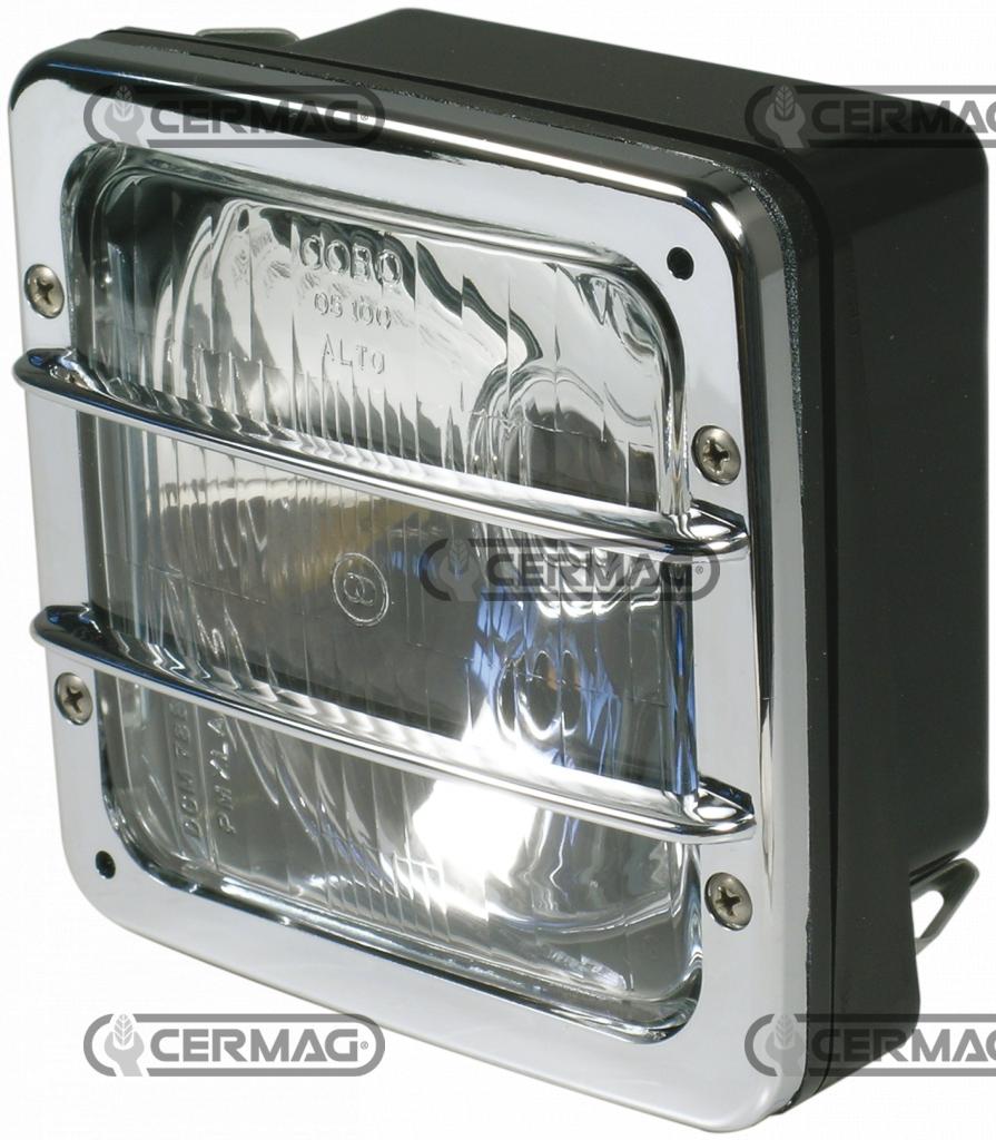 8in Faro Lega di Alluminio Interruttore a Tre Posizioni Impermeabile dellinterruttore Nebbia 12V riflettore Retro Interruttore Manubrio del Motociclo Color : Silver YJDTYM 22 Centimetri 7