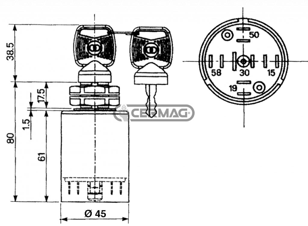 Schema Elettrico Blocchetto Avviamento : Schema elettrico blocchetto avviamento accensione