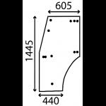 VETRO PORTIERA DX/SX LANDINI SERIE FRUTTETI 60F/L/V